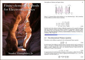 Finite-element Methods for Electromagnetics, free textbook
