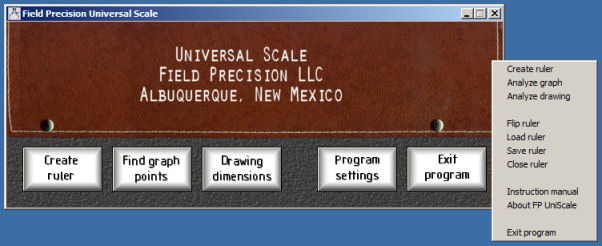 Universal Scale main window